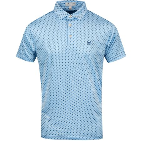 Polo Taxes Stretch Printed Skulls & Clubs Cottage Blue - SS19 Peter Millar Picture