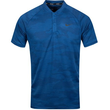 Polo TW Vapor Zonal Cooling Camo Polo Gym Blue - SS19 Nike Golf Picture