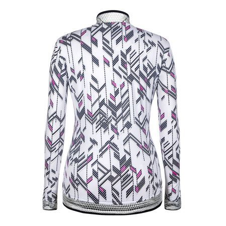 Outerwear Tail Deco Print Full-Zip Jacket Tail Activewear Picture