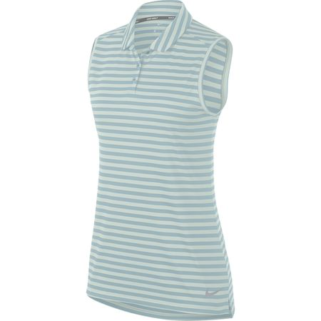 Golf undefined Nike Women's Sleeveless Dry Stripe Golf Polo made by Nike Golf