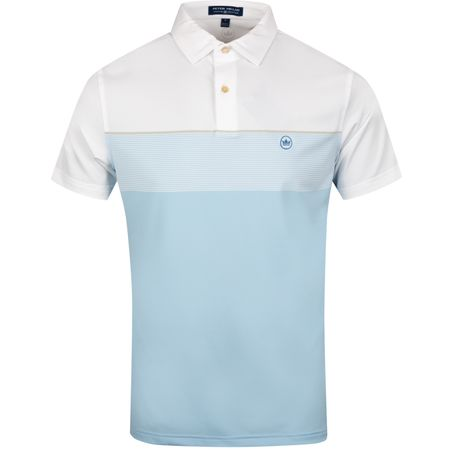 Golf undefined Gordon Stretch Stripe Tour Fit White/Tar Heel Blue - SS19 made by Peter Millar