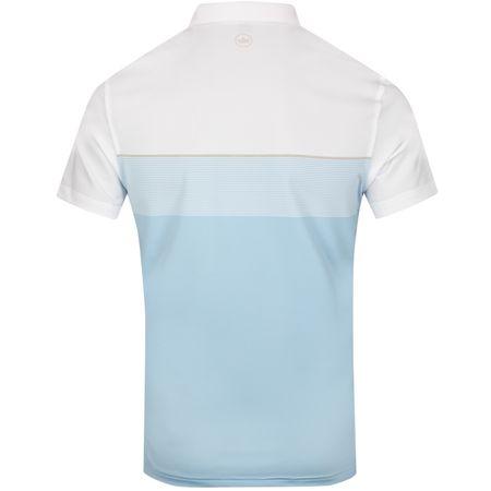 Polo Gordon Stretch Stripe Tour Fit White/Tar Heel Blue - SS19 Peter Millar Picture