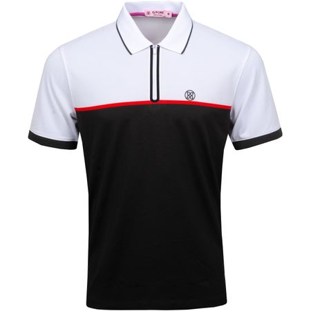 Golf undefined Zip Polo Black Ink/Snow - SS19 made by G/FORE