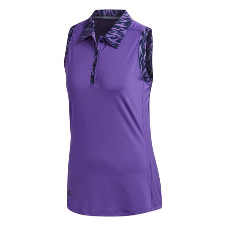 Golf undefined Ultimate365 Printed Sleeveless Polo Shirt made by Adidas Golf