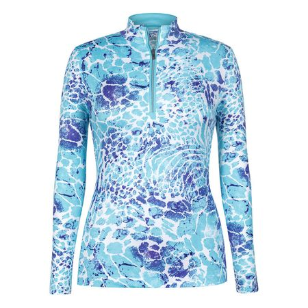 Golf undefined Tail Low Tide Print Long Sleeve 1/4 Zip made by Tail Activewear