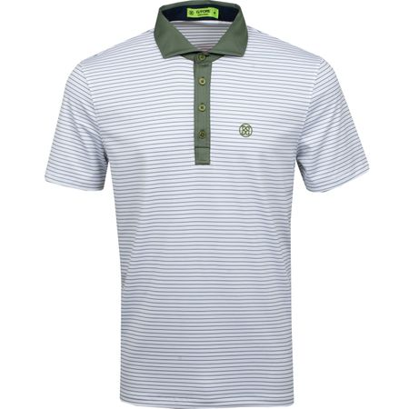 Golf undefined Narrow Stripe Polo Olive - SS19 made by G/FORE