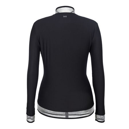Golf undefined Tail Black Mesh Solid Full-Zip Jacket made by Tail Activewear