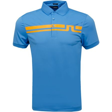 Golf undefined Eddy Polo Slim Fit TX Jersey Ocean Blue - SS19 made by J.Lindeberg
