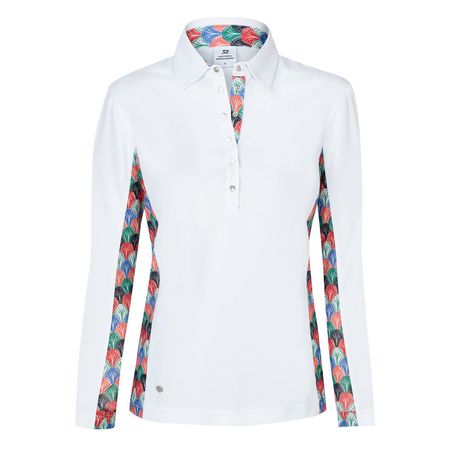 Golf undefined Daily Sports Jacey White Long Sleeve Polo made by Daily Sports