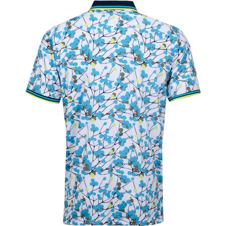 Golf undefined Branches Printed Polo Bluebird/Lime Punch - SS19 made by G/FORE