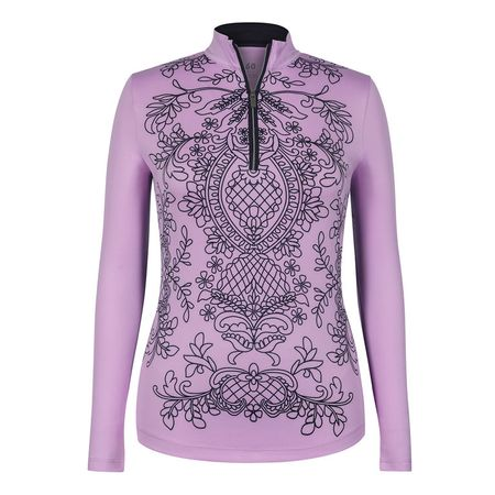 Outerwear Tail Lace Print Long Sleeve 1/4 Zip Tail Activewear Picture