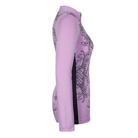 Golf undefined Tail Lace Print Long Sleeve 1/4 Zip made by Tail Activewear