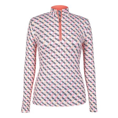 Outerwear Tail Stitches Print Long Sleeve 1/4 Zip Tail Activewear Picture