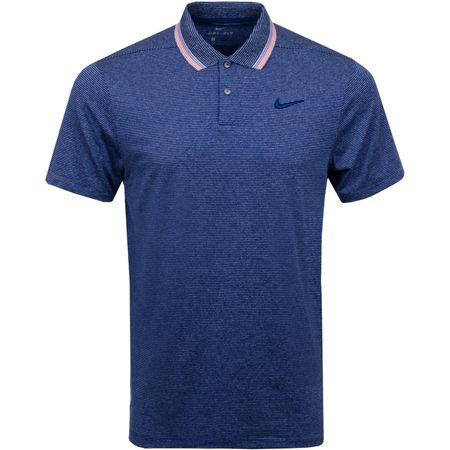 Golf undefined Dry-Fit Vapor Control Stripe Polo Blue Void - SS19 made by Nike Golf