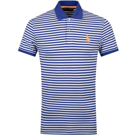 Golf undefined Stripe Performance Pique Royal Blue/White - SS19 made by Polo Ralph Lauren