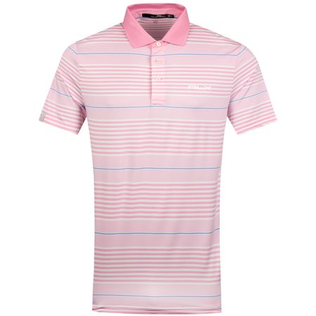Golf undefined Stripe Airflow Jersey Pink Flamingo/Pure White - SS19 made by Polo Ralph Lauren