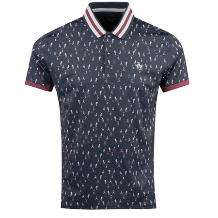 Polo Pete's Skyes Up Printed Polo Black Iris - AW18 Original Penguin Picture