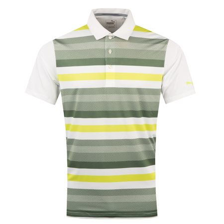 Golf undefined Turf Stripe Polo Bright White/Laurel Wreath - AW18 made by Puma Golf