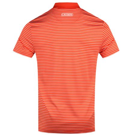 Golf undefined Striped Polo Pomegranate/White - AW18 made by Lacoste