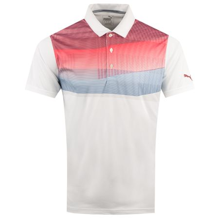Golf undefined PWRCOOL Refraction Polo Pomegranate - AW18 made by Puma Golf