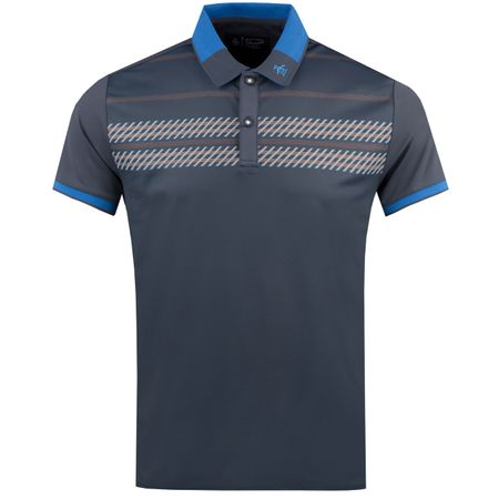 Golf undefined Oxford Stripe Print Polo Black Iris - AW18 made by Original Penguin