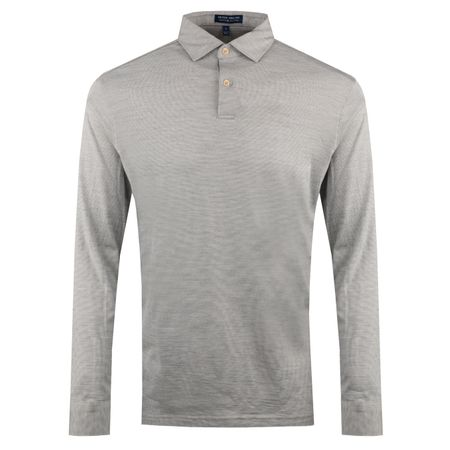 Golf undefined Crown Crafted Performance LS Polo Smoke - AW18 made by Peter Millar