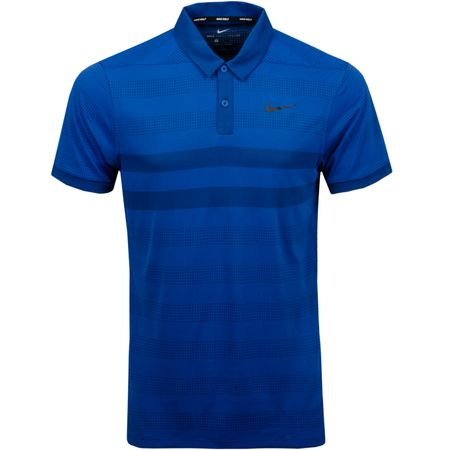 Polo Zonal Cooling Stripe Polo Gym Blue/Black - AW18 Nike Golf Picture