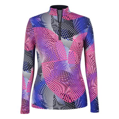 Golf undefined Tail Agility Print Long Sleeve 1/4 Zip made by Tail Activewear