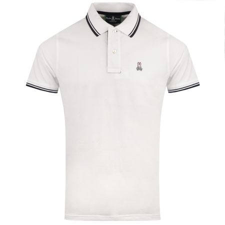 Golf undefined Tonal Stripe Polo White - AW18 made by Psycho Bunny