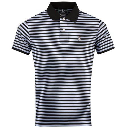 Golf undefined Stripe Sport Polo Black - AW18 made by Psycho Bunny