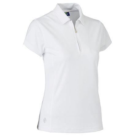 Polo Daily Sports Macy White Short Sleeve Solid Polo Daily Sports Picture