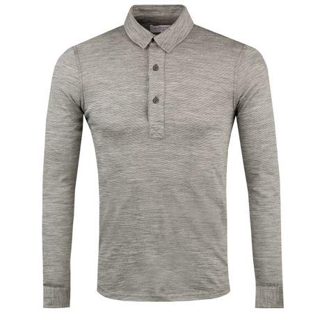 Golf undefined Sebastian LS Merino Stripe Polo Grey Melange/Cloud - AW18 made by Orlebar Brown