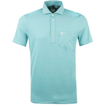 Golf undefined Feeder Stripe Polo Acqua - AW18 made by G/FORE