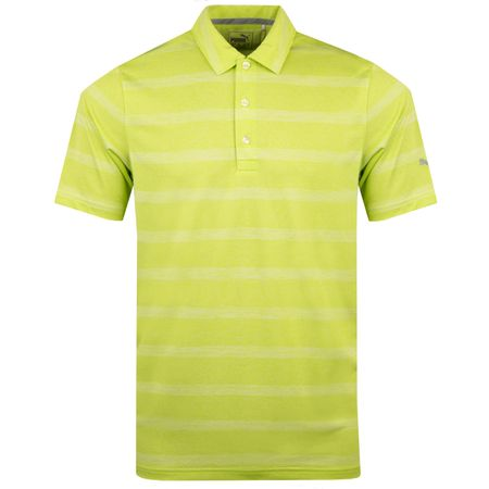 Golf undefined Pounce Stripe Polo Lime Punch - AW18 made by Puma Golf