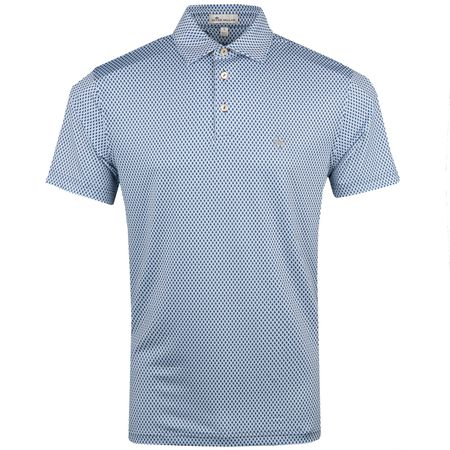 Golf undefined Albans Printed Guitars Stretch Jersey Polo White - AW18 made by Peter Millar
