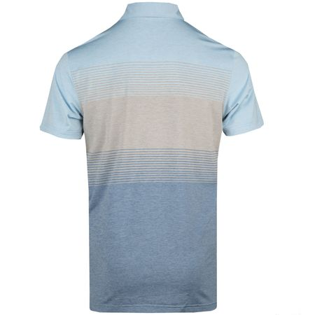Golf undefined Farley Engineered Stripe Stretch Jersey Polo Cottage Blue - AW18 made by Peter Millar