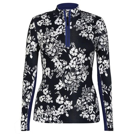 Outerwear Royal - Ella Gingham Bloom Print 1/4 Zip Tail Activewear Picture