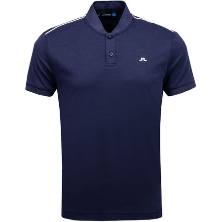 Polo Bevin Cotton Poly JL Navy Melange - AW18 J.Lindeberg Picture