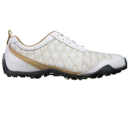 Shoes FootJoy Superlites Women's Golf Shoe - White/Tan FootJoy Picture