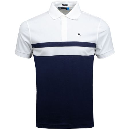 Golf undefined Kye Slim Fit Cotton Poly JL Navy Melange - AW18 made by J.Lindeberg