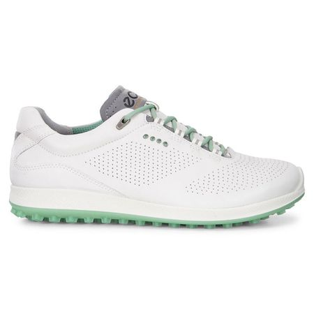 Shoes ECCO BIOM Hybrid 2 Perf Women's Golf Shoe - White/Green ECCO Picture