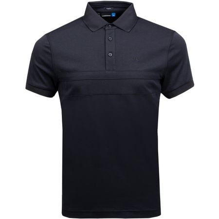 Golf undefined Kye Slim Fit Cotton Poly Black Melange - AW18 made by J.Lindeberg