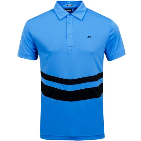 Golf undefined Double Stripe Regular TX Jersey Silent Blue - AW18 made by J.Lindeberg
