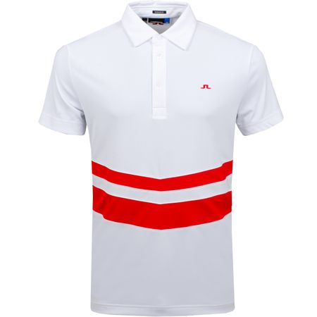 Golf undefined Double Stripe Regular TX Jersey White - AW18 made by J.Lindeberg