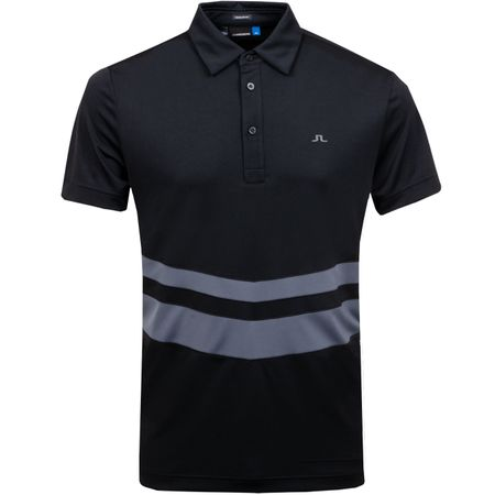 Golf undefined Double Stripe Regular TX Jersey Black - AW18 made by J.Lindeberg
