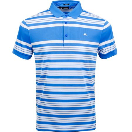 Golf undefined Ralfs Slim Fit Striped Polo TX Jersey Silent Blue - AW18 made by J.Lindeberg