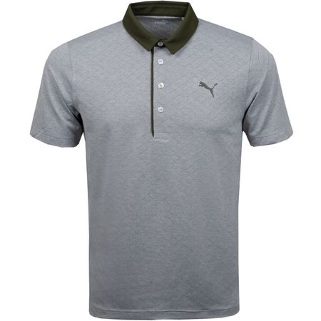 Golf undefined Diamond Jacquard Polo Forest Night Heather - AW18 made by Puma Golf