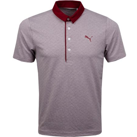 Golf undefined Diamond Jacquard Polo Pomegranate Heather - AW18 made by Puma Golf