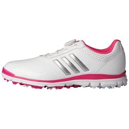 Shoes adidas Adistar Lite Boa Women's Golf Shoe - White/Silver Adidas Golf Picture