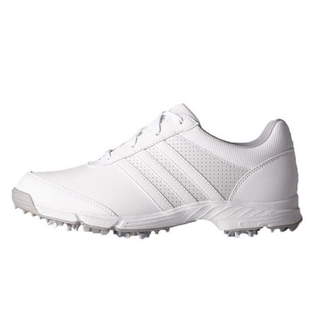 Shoes adidas Tech Response Women's Golf Shoe - White/Silver Adidas Golf Picture
